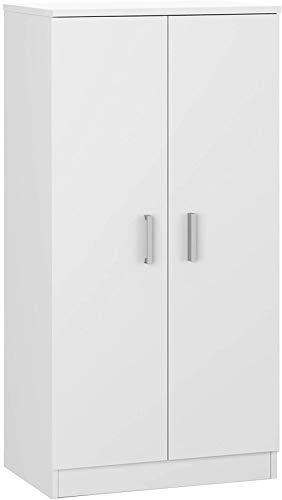 Xicaimen Basic Garderobe Schuhregal Hilfsmöbelin glänzendem WeißMaße: 108 cm (Höhe) x 55 cm (Länge) x 36 cm (Tiefe)