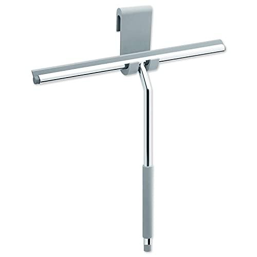 Libaro XXL Duschabzieher Farini - Fensterabzieher - Wasserabzieher - Duschwischer - aus Edelstahl und Silikon - inkl. passenden Silikonhaken -