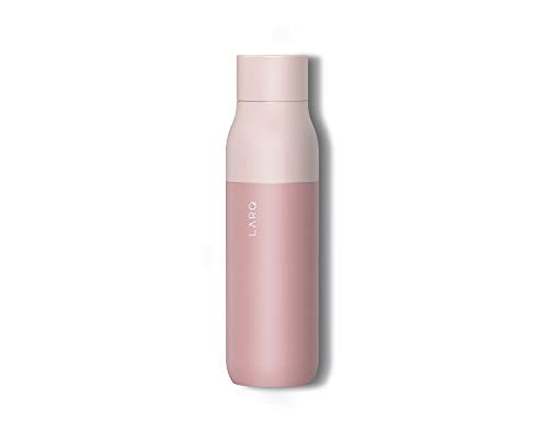 LARQ Bottle - Self-Cleaning Water Bottle and Water Purification System (Himalayan Pink, 500ml / 17oz)