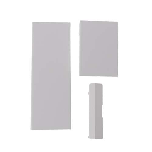 Meipai Ersatz-Memeory-Karten-Türschlitz-Abdeckung, 3-teilig, kompatibel mit Nintendo Nintend Wii Konsole