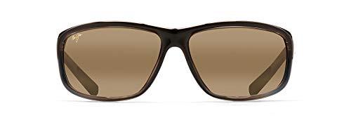 Maui Jim Spartan Reef Wrap Sunglasses, Marlin/HCL Bronze Polarized, Large