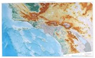 Raven Maps Southern California Topographic Wall Map, Laminated Print