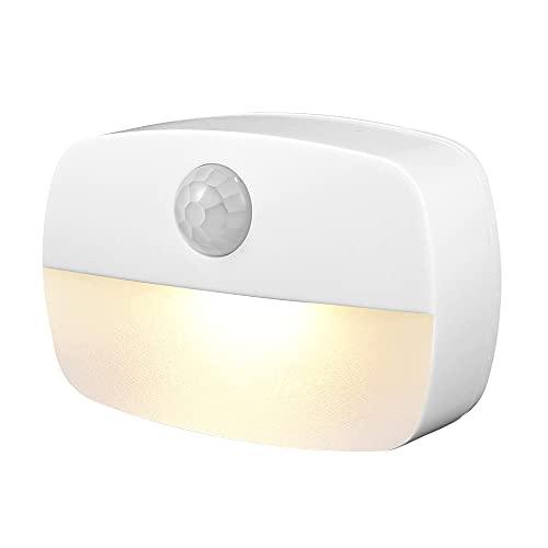 Luce Notturna Bambini Batteria LED Non fa Male Agli Occhi Luci Notturne a Parete con Sensore di Movimento Sensore di Luce per Cucina Corridoio Scale Camere Bambini Garage (Luce calda)