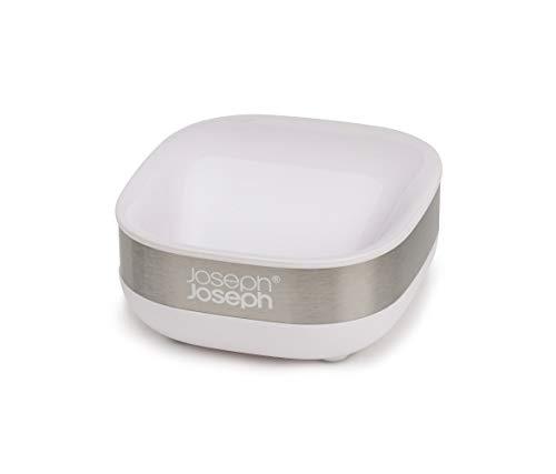 Joseph Joseph 70533 Slim Steel Portasapone Compatto - Bianco, Taglia Unica