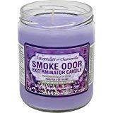 Smoke Odor Exterminator 13 oz Jar Candles Lavender Chamomile, (3) Set of Three Candles.