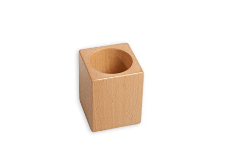 Amazing Child Small Wooden Pencil Holder - Attractive Small Pencil Pot Made from Beech