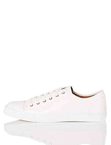 find. Sneaker Herren aus Stoff mit Retro-Baseball-Design, Weiß (White), 43 EU