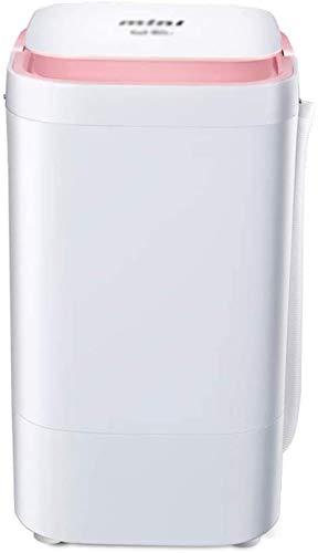 Lavadora portátil Mini Lavadora, pequeña Lavadora semiautomática Limpieza de la Ropa Rotary Roty Washer Detachable Magic Box 4.5kg / 9.9 lbs Lavado Capacidad for Apartamentos Camping (Color : Pink)