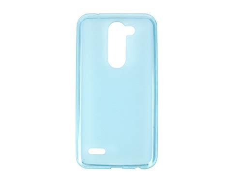 etuo Handyhülle für LG X Mach - Hülle FLEXmat Hülle - Blau - Handyhülle Schutzhülle Etui Hülle Cover Tasche für Handy