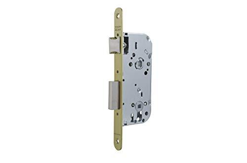 Tesa Assa Abloy 13458RHL Cerradura de embutir para puertas de madera Con Cilindro LatonadoEntrada 50 mm / Frente Redondo 134