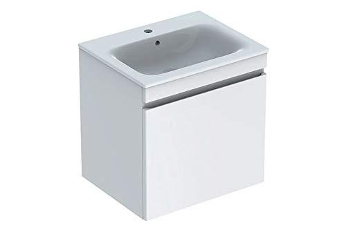 Keramag Geberit Renova Plan Waschtischunterschrank für Waschtisch, schmaler Rand mit 1 Schublade, 58,8x58,5x47,3cm, weiß, 869560000