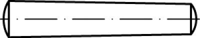 DIN 1 Stahl Form B Kegelstifte, Kegel 1 : 50, gedreht Abmessung: B 8 x 150 VE=S (50 Stück)