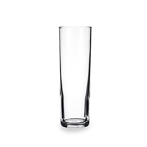 Set 24 vasos de vidrio resistente TUBO 33 CL ALTO ARC