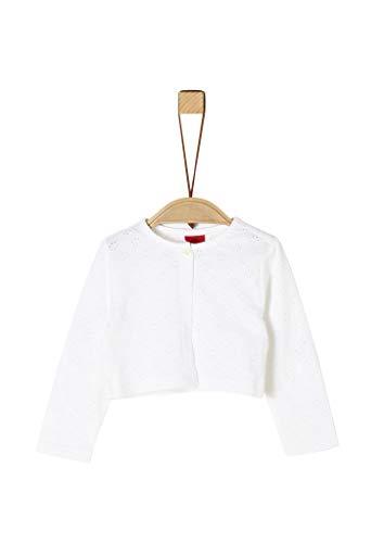 s.Oliver Junior Baby-Mädchen 405.10.004.12.150.2020759 T-Shirt, 0100 white, 92