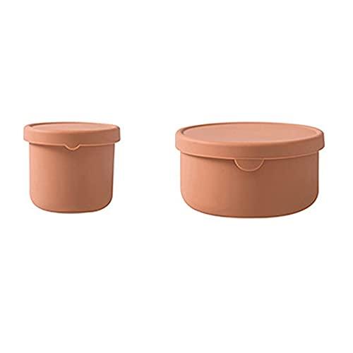WSYGHP 2 recipientes de almacenamiento de alimentos con tapas a prueba de fugas, herméticos para lavavajillas y congelador para frutas y verduras, color azul caramelo