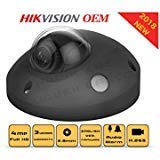 4MP PoE Security IP Camera - Mini Dome,Indoor and Outdoor,Wide Angle 2.8mm Lens,Built in Microphone, SD Card Slot Audio Alarm in/Out Compatible with Hikvision DS-2CD2543G0-ISB English Version