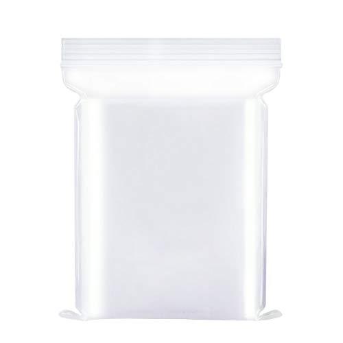 Verschließbare Plastikbeutel, Wiederverschließbare Beutel, Druckverschlussbeutel Klein, Zip Beutel, Verdickung Haltbar 10X15cm 100 Stück