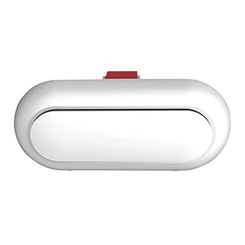 BAWAQAF Interior del Coche Universal Caja de Gafas Protección Caja de Gafas de Sol ABS Caja de Almacenamiento con Hebilla de Visera