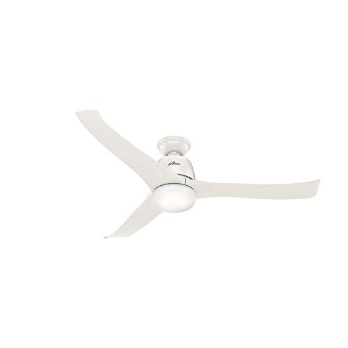 Hunter Harmony Indoor Ceiling Fan with LED Light and Remote Control, 54, White