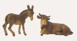 Ochs und Esel 2tlg. Geeignet für 9cm Figuren