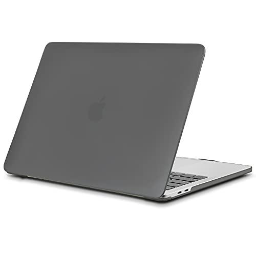 TECOOL Funda para MacBook Pro 13 2016/2017/ 2018/2019, Delgado Cubierta de Plástico Dura Case Carcasa para MacBook Pro 13 Pulgadas con/sin Touch Bar (Modelo: A1706 / A1708 / A1989/ A2159) - Gris