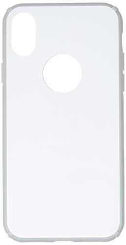 Capa Protetora Glass Case para iPhone X/ XS, iWill, Capa Anti-Impacto, Branco