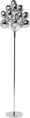 Kare Design Stehleuchte Balloons, Stehlampe, moderne Wohnzimmerlampe, Standleuchte, Deckenfluter, Silber (H/B/T) 167x38x38cm