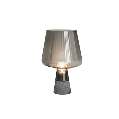Kfhfhsdgsactd Lámpara Mesilla Noche, Lámpara de Mesa de Cemento Lámparas de Mesa de Cristal Modernas para Sala de Estar Dormitorio Estudio Escritorio Decoración Luz Casa Lámpara de Noche