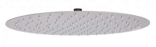 Wohnling Luxus Edelstahl Einbau Regendusche - Regenbrause 40 cm - Duschkopf rund mit Anti-Kalk Düsen