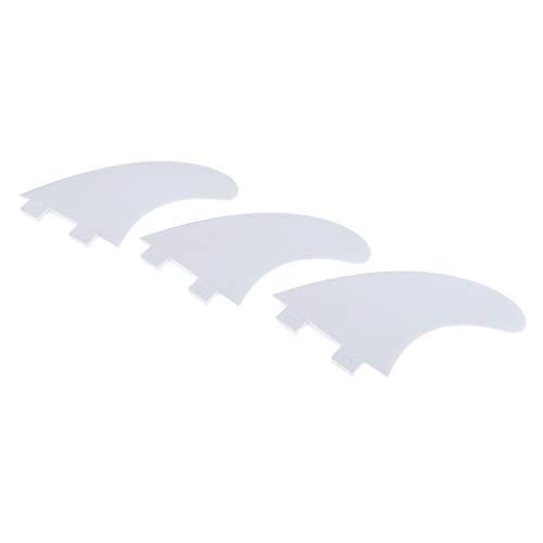 Sharplace 3pcs / Set Propulsor de Aletas de Surf de Tabla de Surf de Longboard para/Future Base - Blanco, Tal como se Describe