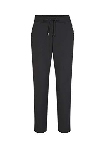 SOYACONCEPT - Damen Hose mit Rüschen an den Taschen, Sc-Shiam 1, Größe:XS, Farbe:Black (9999)