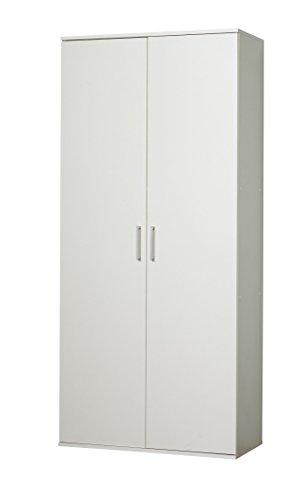 WILMES Schuhschrank, Holzwerkstoff, Weiß, 39x80x178 cm