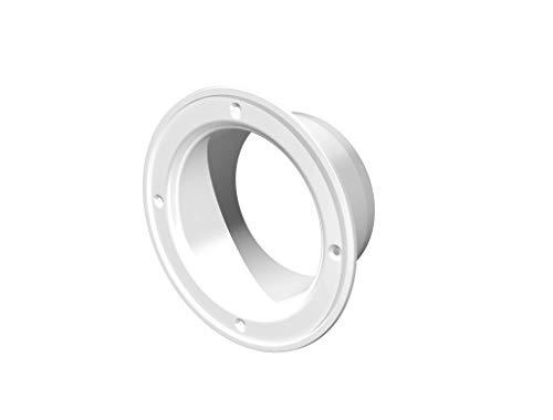 Flangia connettore condotto in plastica dritta flangia tubo per riscaldamento raffreddamento sistema di ventilazione (4   pollici)