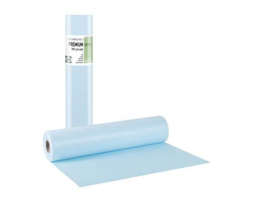 Tegcare Aerzterollen Hygienerollen Liegenabdeckung 2-lagig (50cm X 50m, Blau), 700 g