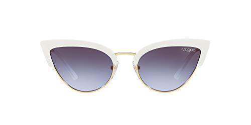 Vogue Eyewear 0vo5212s W7454q 55 Occhiali da Sole, Bianco (White/Gold), Donna