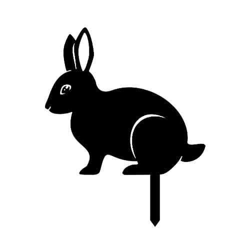 Yyoutop Decoration de Lapin Mignon de la Lapin Statue de Lapin Creuse Creuse Creuse Design Animal créatif de Jardin d'extérieur Jardin d'art Art déco (Color : C)