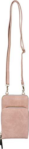 styleBREAKER Dames Mini-Tas schoudertas met 2 ritsen, gsm-zakje, portemonnee, schoudertas, handtas 02012349