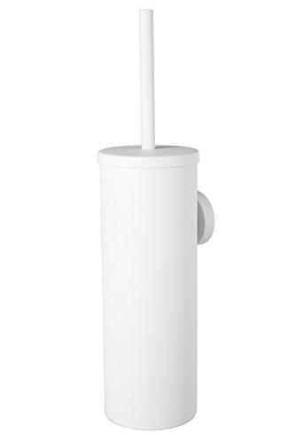 Haceka 1142255 Prote-Brosse de Toilette Kosmos fermé Blanc, Acier inoxidable, 30 x 10 x 10 cm