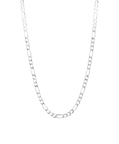 Pori Jewelers 925 Sterling Silver Figaro Chain Necklace - 4mm - 10.5mm - Made in Italy (22, 4.5MM)