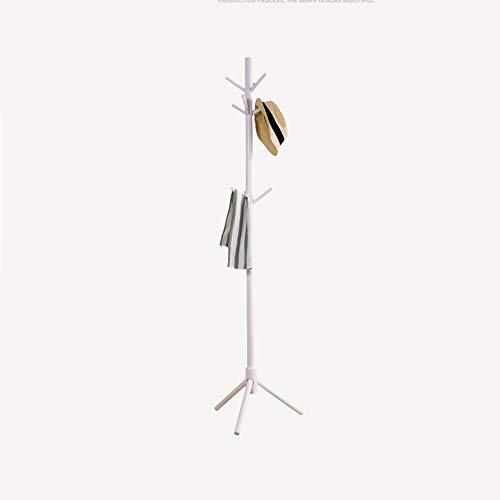ZXL Kapstok van hout in boomvorm met 3 niveaus 9 haken en stabiele voeten voor sjaals, hoeden, wit/bruin, 175 cm H (kleur: bruin)