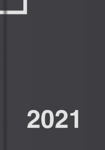 Tagesplaner 2021 DIN A5, Planer, Kalender und Tagebuch, 1 Tag - 1 Seite: Tageskalender 21 für 365 Tage, Platz für Termine, Todos, usw., für Freizeit und Business (schwarz)