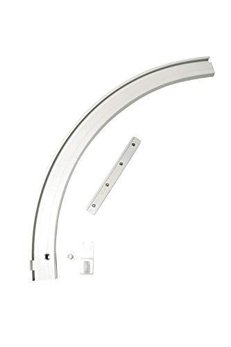 Gardinia Rundbogen für Aluminium-Vorhangschiene 1-läufig Links weiß 20 x 20 cm