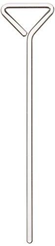 neoLab 3-1721 Drigalski-Spatel aus Glas, 200 mm x 45 mm, 4 mm Durchmesser