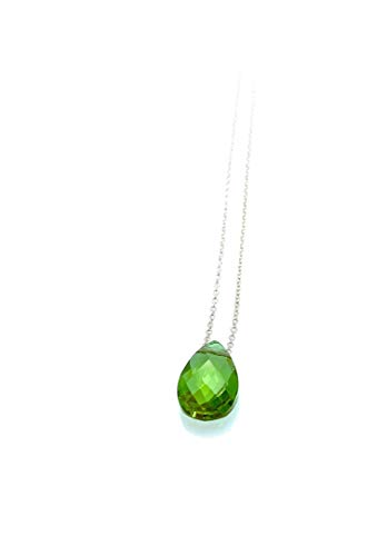 Diaspor Color Chancing Gemstone Sterling Silver Necklace,15.7'' to 17.7'' Adjustable Chain by Handmade Studio