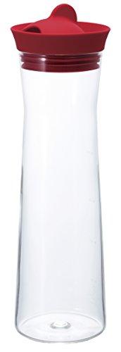 Hario - Jarra de agua (1000 ml), color rojo
