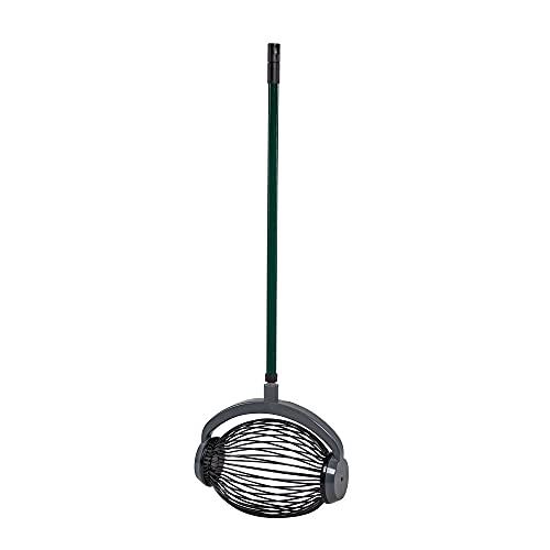 UPP Rollsammler mit Alu-Teleskopgriff - groß | Combisystem-Obstsammler für Fallobst, Birnen, Äpfel, Tennisbälle, Quitte | Komfortabels aufsammeln - ohne Bücken |Volumen: max. 6 L, Belastbarkeit: 2,2kg