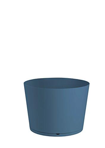 GROSFILLEX Bac à Plantes Tokyo Diamètre 36, Bleu Denim, 36 x 36 x 26 cm
