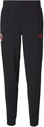 PUMA World Cup Soccer AC Milan Mens AC Milan Ftblculture Track Pants, Puma Black-Tango Red, L