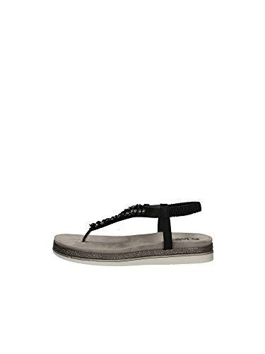 inblu ORTISEI Sandalo Infradito Donna con Cinturino Elastico Moda Articolo SA-27 (Nero, Numeric_35)