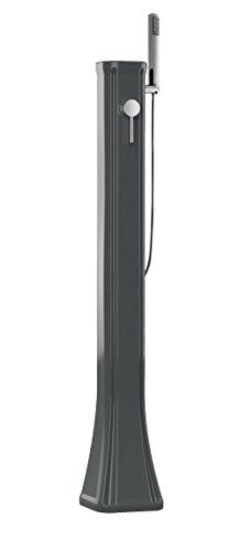Arkema Design Happy Go Outdoor-Sonnendusche mit Mischbatterie und Handbrause, Schwarz
